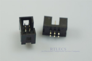 "Image 3 - 1000 Pcs מעוטף תיבת כותרת IDC שקע 2.54mm 2x3 פין 6 P ישר זכר כיכר פין 0.64mm 2 שורות חלל 2.54 דרך חור מח""ש"