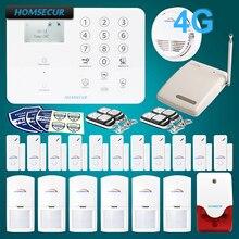 HOMSECUR Wireless 4G LCD Burglar Intruder Alarm System with Multi Languages Menu GA01 4G W