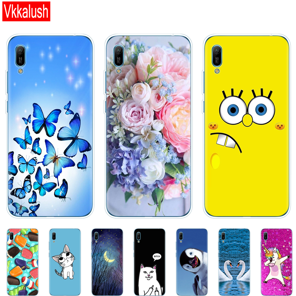 Huawei y6 2019 Case Y6 Silicon TPU Cover Soft Phone case For MRD-LX1 MRD-LX1F Y 6 pro Prime