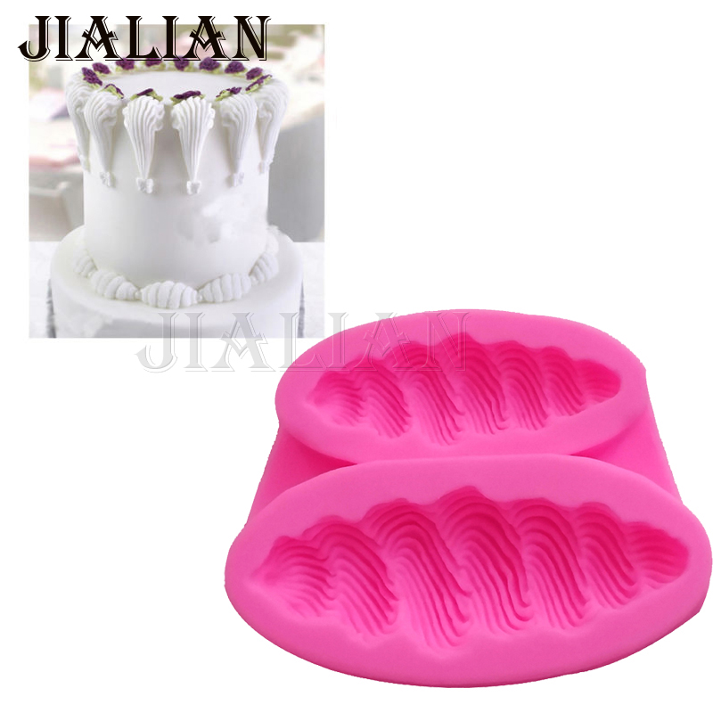 Lace pattern border decoration tool for Wedding party cake fondant DIY silicone moulds Polymer Clay Resin Candy T0889