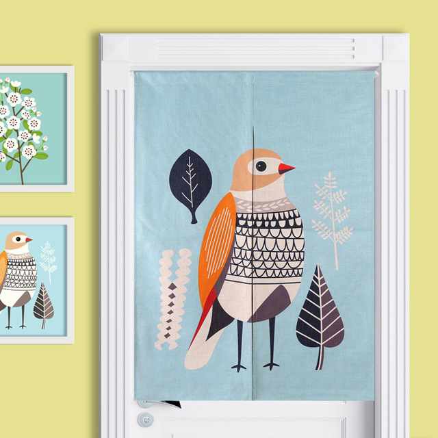 Kitchen Curtains bird kitchen curtains : Aliexpress.com : Buy Fresh bird illustration cotton cartoon short ...
