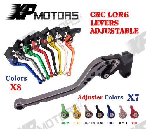 CNC Long Adjustable Brake Clutch Lever For Suzuki GSF650 Bandit 2005 2006 GSF 650 05 06 New adjustable long folding clutch brake levers for suzuki gsx 650 f gsx650f 08 09 10 11 12 13 14 15 2014 gsf 650 bandit n s 2015