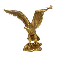 New Small home Tabletop decoration Brass fengshui Success wealth EAGLE/Hawk Statue Figure metal handicraft