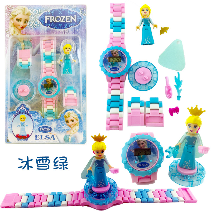 Dream Princess Castle Elsa Ice Castle Princess Anna Set Model Building Blocks Gifts Toys Compatible with Legoingly Friend jg303 building blocks arendelle castle princess anna elsa buildable snow queen figures sy371 with blocks kids toys gift page 8
