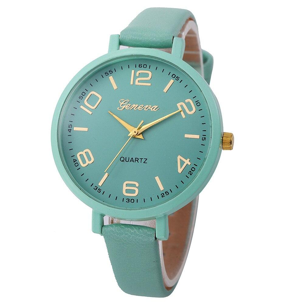 NEW Multicolor Optional Women Casual Leather Quartz Wrist Watch ча жн Reloj Mujer Relogio Feminino Montre Femme Reloj часы C50
