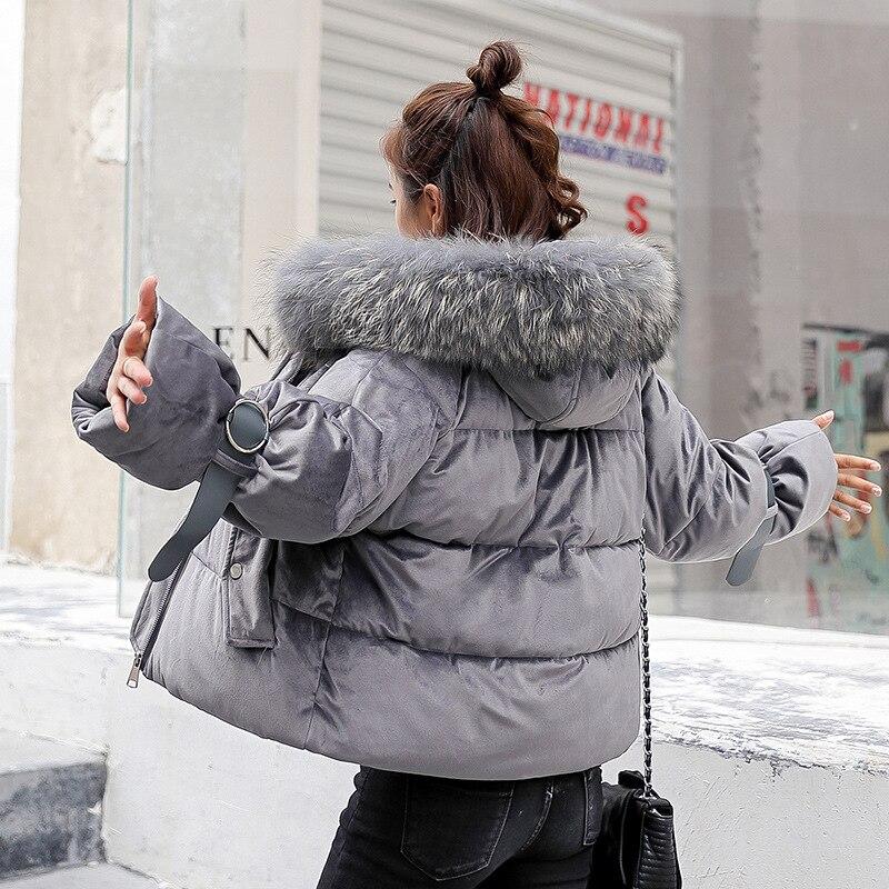 Fourrure white Grand Capuchon De grey À Black Femmes Col Vers pink D'or Le Épais Manteau Bas Velours IraxrEwq