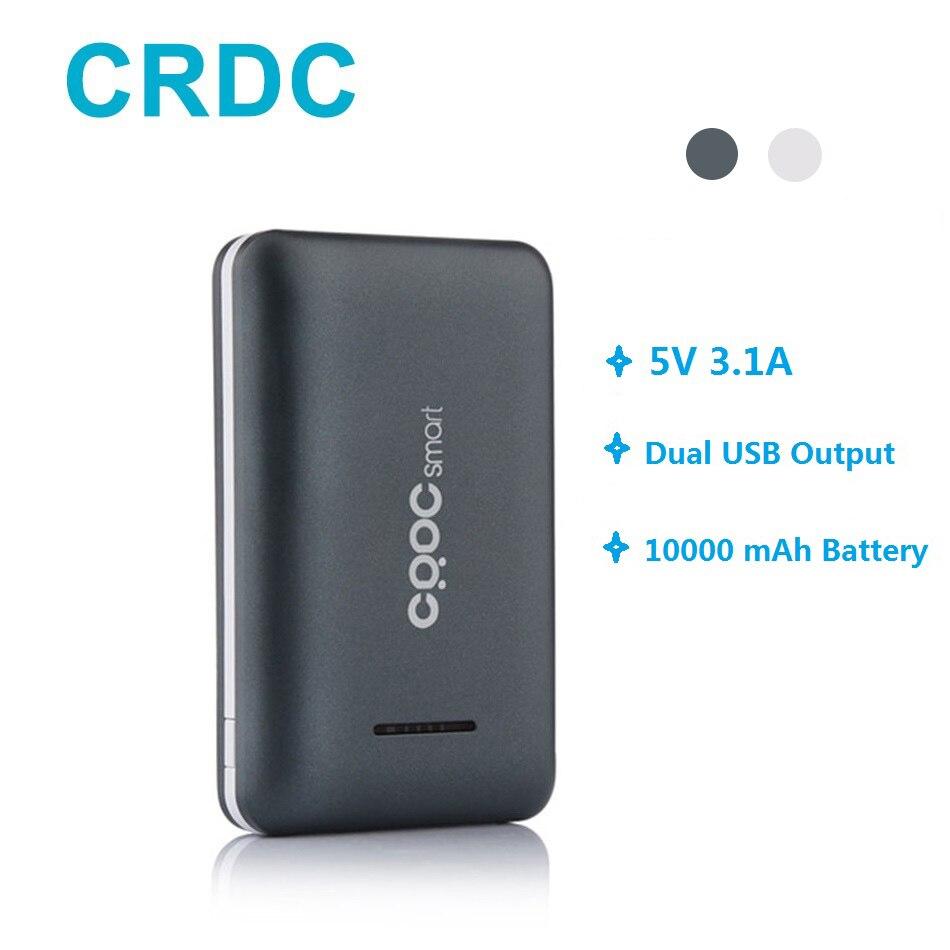 Puissance Banque CRDC 10000 mah Poverbank Ultra Mince Bateria externe Pour Xiao mi mi etc Mobile Téléphone Portable Charge Rapide accumulateur