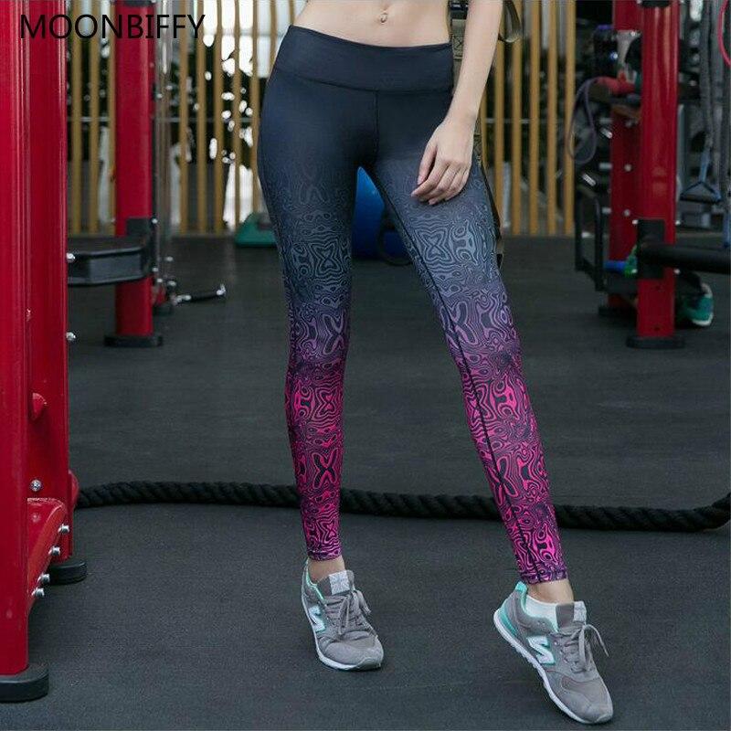 Для женщин Фитнес Брюки Высокая эластичность спортивные Леггинсы Femal Йога работает тренажерный зал брюки