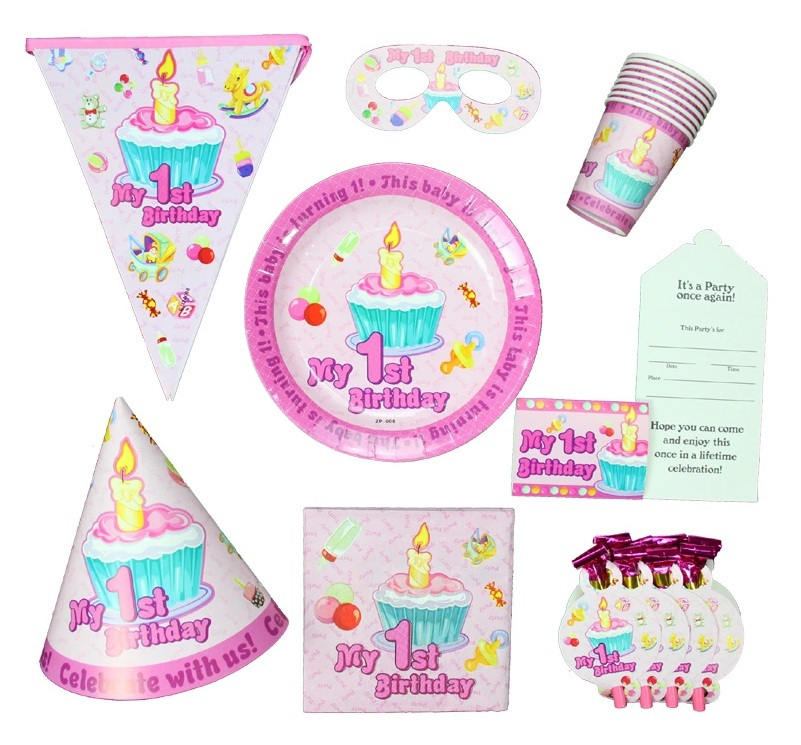 1st Birthday Pink Party Items (First/Girl) Tableware u0026 Decorations table cloth Paper Plate Cups Napkins Straw Bunting Hat set on Aliexpress.com | Alibaba ...  sc 1 st  AliExpress.com & 1st Birthday Pink Party Items (First/Girl) Tableware u0026 Decorations ...