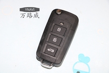 1pcs Fob Replacement Case 3 Buttons Modified Flip Floding Remote Key Shell Blank Key Cover Fit For Hyundai Sonata NF