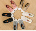 Primavera y otoño zapatos de los niños calcetines zapatos perezosos antideslizante parte media del pie zapatos de lona niño ocasional