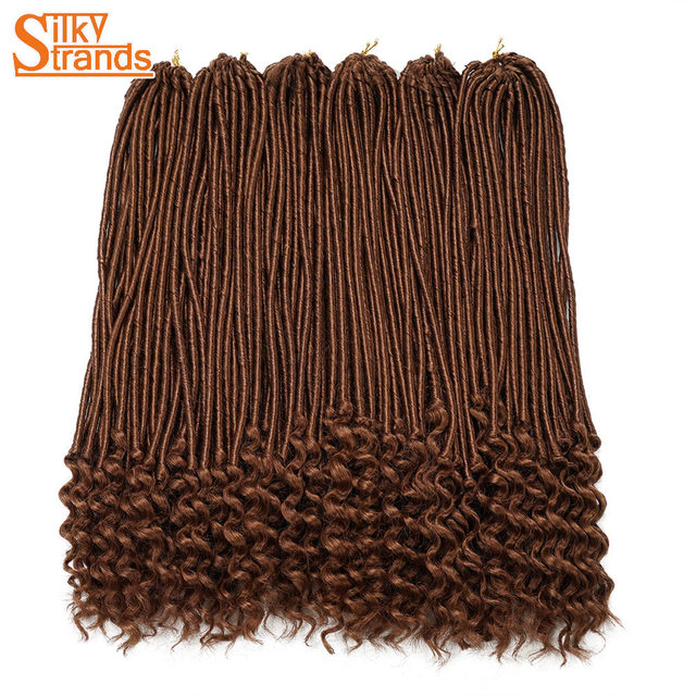 Silky Strands Crochet Faux Locs Curly Hair Extensions Braiding Hair