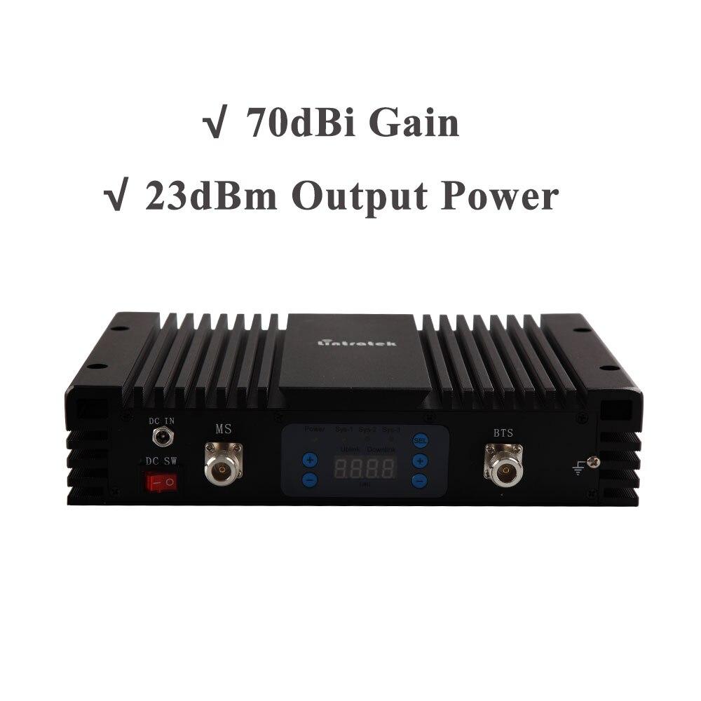 70db Gain 3G amplificateur de Signal de téléphone portable W-CDMA 2100 MHz répéteur de Signal UMTS 2100 répéteur amplificateur de téléphone portable 3G avec AGC MGC * - 3