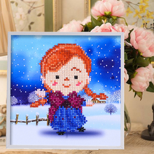 Lovely Style 3D Puzzle DIY Children Handmade Resin Material Puzzle Girl Learning & Education Girl Jigsaw Toys 20*20cm T010