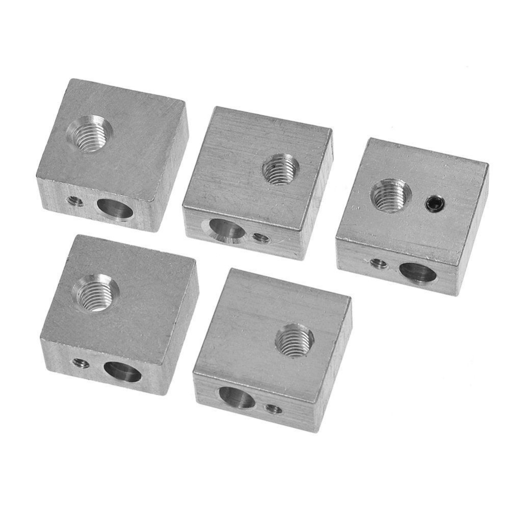 5PCS/lot E3D V6 Aluminum Heater Block for 3D Printer Heating Block 20mm x 16mm x 12mm Rperap 3D Printer DIY Kit Parts