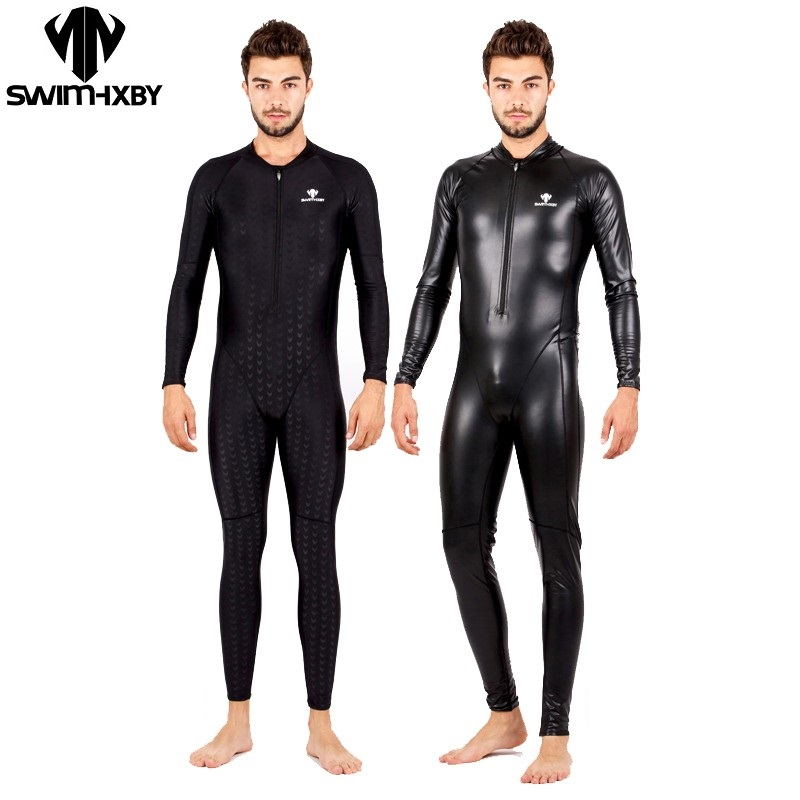 HBXY swimsuit swimwear men full one piece professional swimsuits mens swim suit plus size shark bathing suits competitive