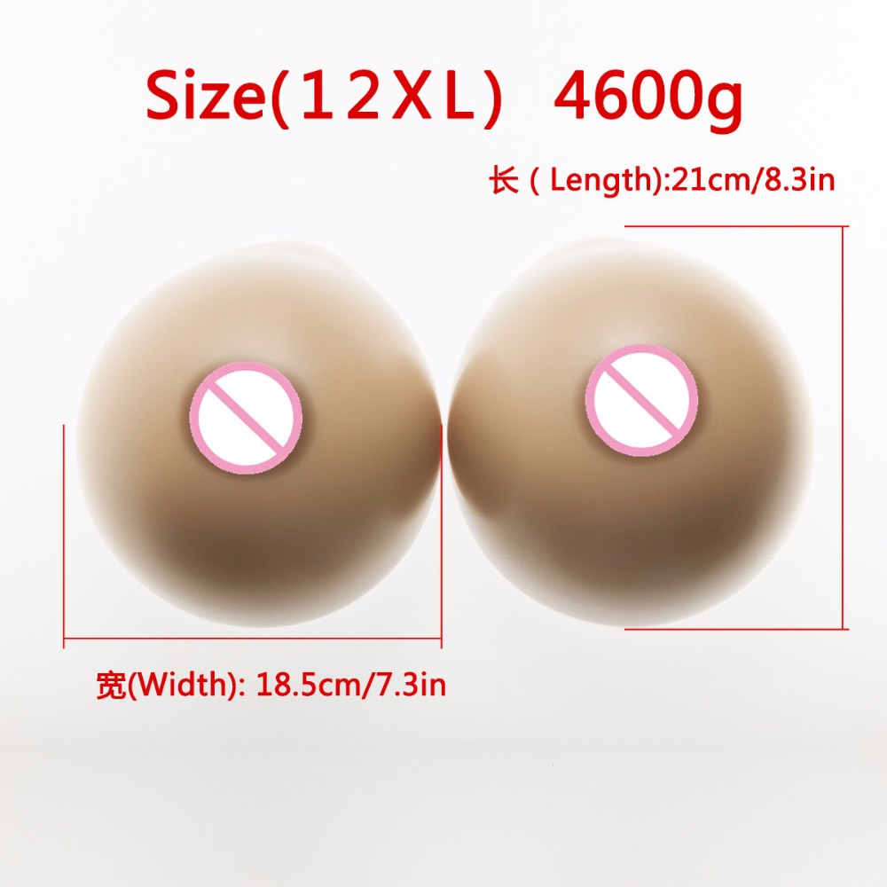 Popular Big Discount Silicone Breast Forms for Man Crossdresser Artificial Boobs 4600g very large size natural urban forms