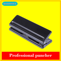 New 6 Hole Punch Loose Leaf Standard Puncher Paper Adjustable Stapler Home Office Binding Supplies Student Stationery Equipment