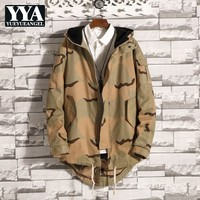 Harajuku Vintage Camouflage Jacket Parkas Men Fleece Warm Loose Hooded Big Size 5XL Coat Male Fashion Streetwear Overcoat Autumn