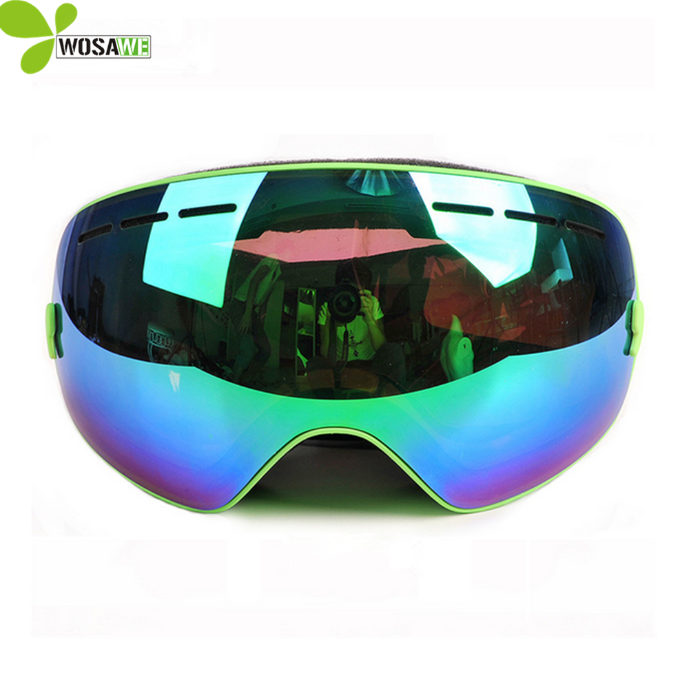 PROPRO double layer PC lens snowboard goggles half face cover anti-fog UV 400 protection skiing eyewear myopia frame ski glasses polisi winter snowboard snow goggles men women double layer large spheral lens skiing glasses uv400 ski skateboard eyewear