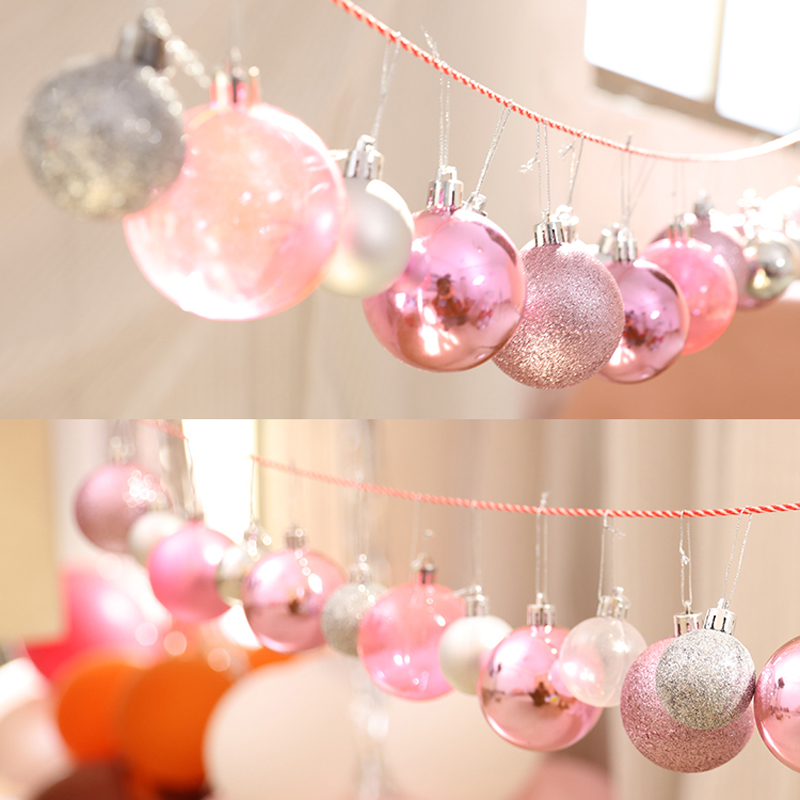 Christmas Ball Ornaments.Us 4 97 30 Off 4cm 6cm 8cm Wedding Hanging Decorations Christmas Balls Ornaments For Home Wall Decor Wedding Party Supplies Accessories In Ball
