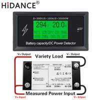 Testadores de bateria de carro digital dc voltímetro amperímetro tensão medidor capacidade volt atual wattmeter detector fonte alimentação testador