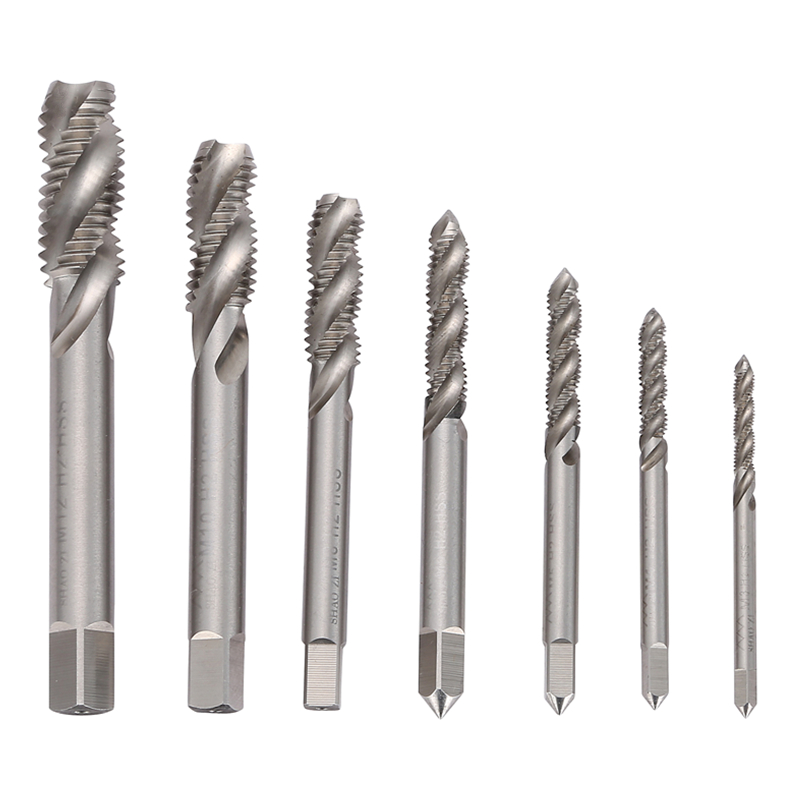Spiral Fluted Machine Screw Tap M3/M4/M5/M6/M8/M10/M12 HSS Spiral Pointed Taps Tapping Screw Thread Forming Tap m