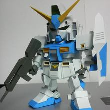 Гандам SD RX-78 NT-1, как DIY японской 3D бумажной модели