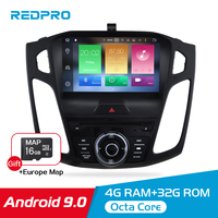 9 IPS 4G RAM Android 9.0 Car DVD Stereo Player For Ford Focus 2015 2017 GPS Navigation Video Radio WIFI Bluetooth FM Multimedia