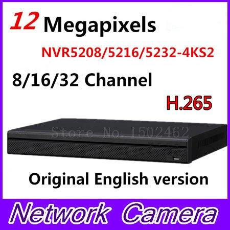 Оригинальная английская версия Марка 4 К видеонаблюдения NVR NVR5208 4KS2 NVR5216 4KS2 NVR5232 4KS2 8/16/32 Каналы H.265