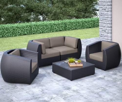 Factory Direct Outdoor Living Wicker Furniture Curved Sofa Conversation Set In Garden Sofas From On Aliexpress Alibaba Group