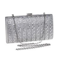 Fashion Women Famous Brands Diamond Clucth Box Bag Lady Silver Wedding Bridal Party Day Clutches Small