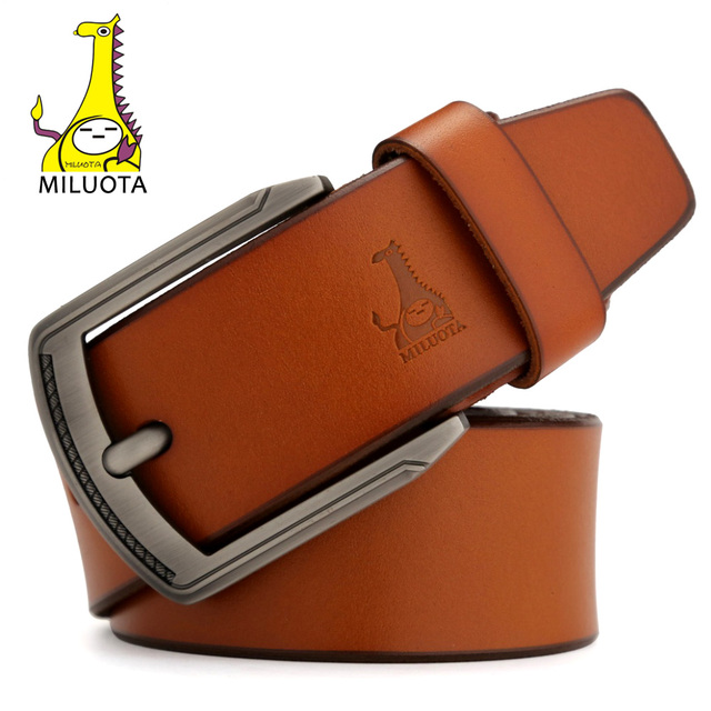 2016 Top cow Genuine Leather Men`s Belt Designer Belts Men High Quality Pin Buckle Man Luxury Strap MU006