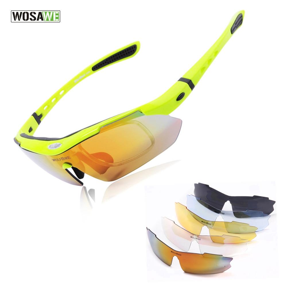 Цена за Wolfbike мужская велоспорт очки поляризованный велоспорт солнцезащитные очки спорт на открытом воздухе велосипедов очки велосипед солнцезащитные очки очки очки 5 объектив зеленый