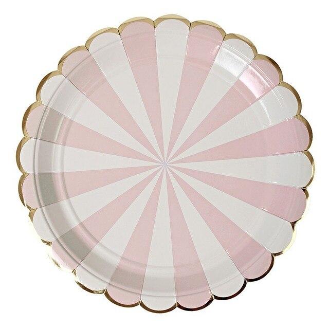 IVYSHION 8PCS/Set Disposable Dinnerware Sets Dishes Gold Silver Lace Striped BBQ Tableware Set Children  sc 1 st  AliExpress.com & IVYSHION 8PCS/Set Disposable Dinnerware Sets Dishes Gold Silver Lace ...