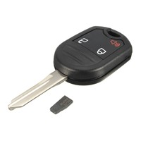 3 Botton Kesilmemiş Anahtarsız giriş Uzaktan Fob Anahtar + Transponder Çip Için 63 Ford/Mercury/Mazda/Lincoln