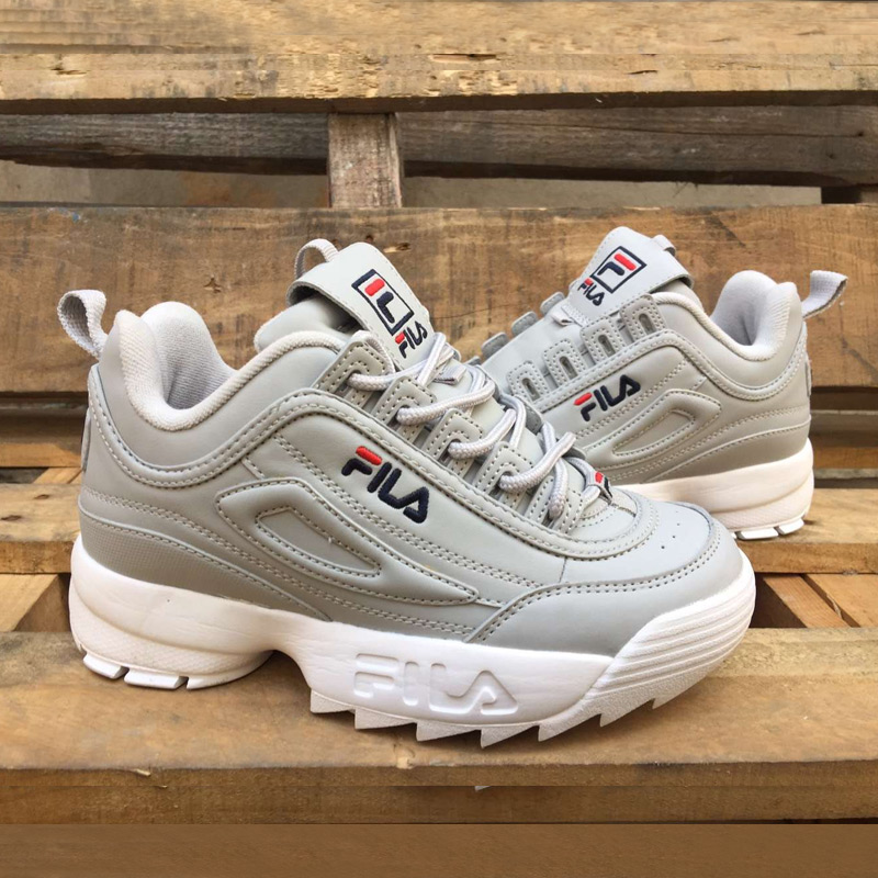 8a7bbe6726e741 2018-Fila-Disruptor-II-2-Women-Sneaker-Running-Shoes -Light-gray-dark-blue-Thick-bottom-increased.jpg