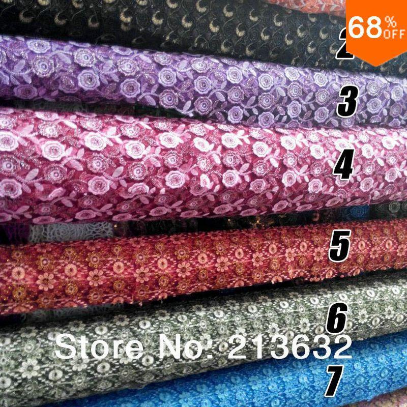 Водяные цветы белковый насос Домашний текстиль вышивка ткань с бисером шт Вышивка обработка вышитая ткань электронный лучший новый