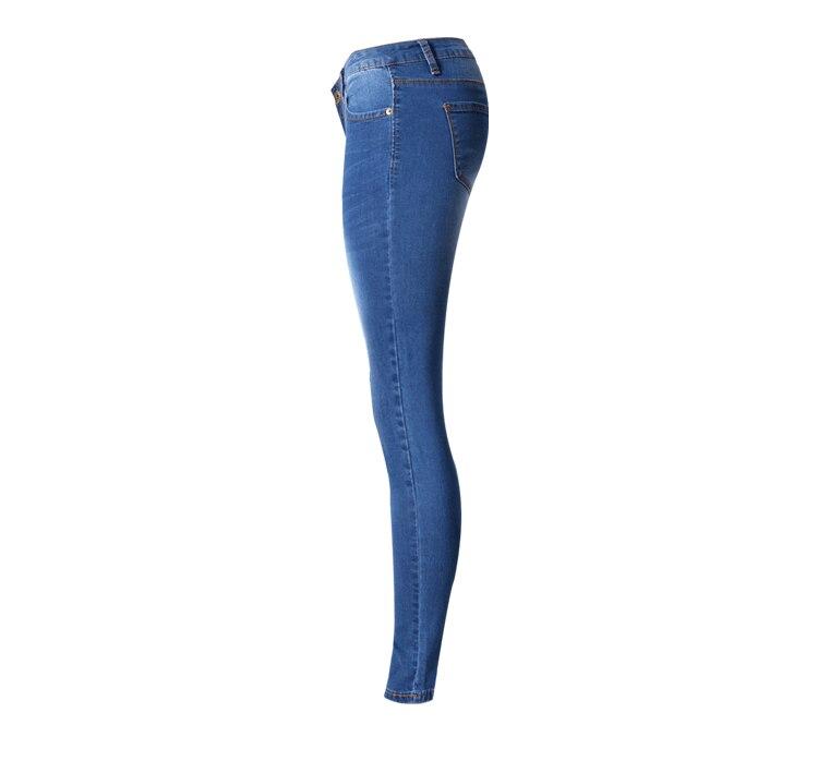 Denim Lápiz Mujer Baja Delgado Mujeres Cintura Para Vaqueros Skinny Azul 2018 Pantalones Nueva zAxBwnWy4