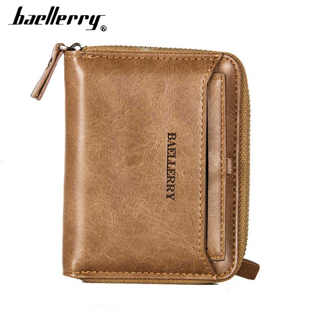 2017 New Men Wallets PU Leather Zipper Coin Pocket Sample Solid High Quality Men Leather Wallet Card Holder Male Purse cartera bogesi men s wallets famous brand pu leather wallets with wallet card holder thin slim pocket coin purse price in us dollars