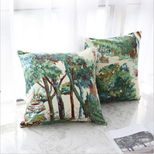 New Cushion Cover Nordic Style Hug Pillowcase Pillow Plant Sen Sofa Literary Retro Living Room Without Core Home