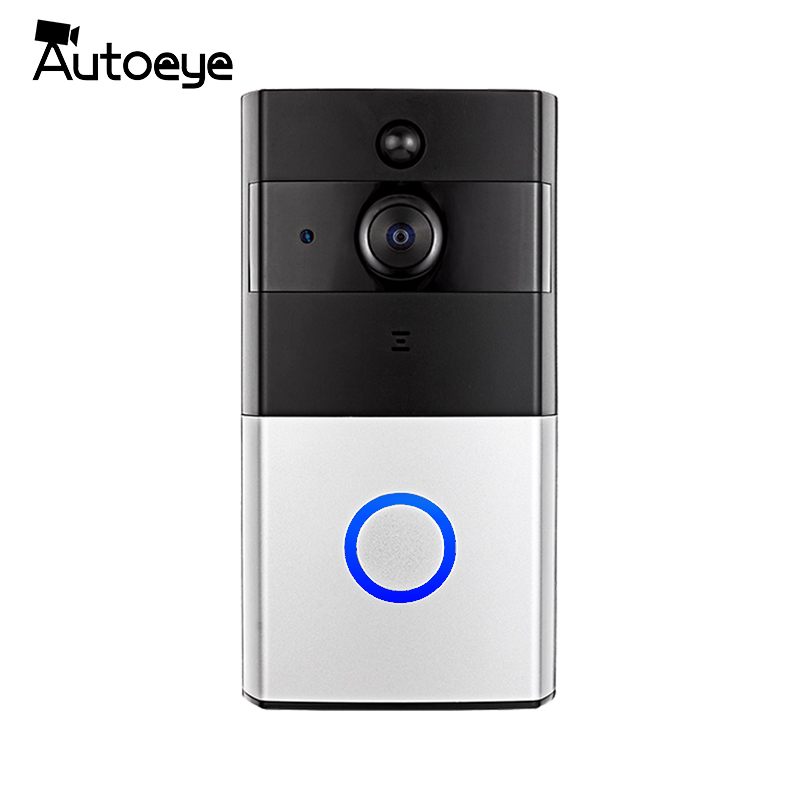 Autoeye Wireless WiFi Video Doorbell 720P Doorbell Camera Night Vision Two-way Audio Battery Operation DoorCam hd 720p wireless wifi security ip door camera night vision two way audio wide angle video doorcam peephole