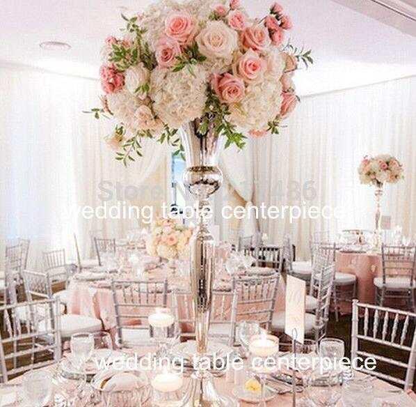 98 Cm Tall Wedding Flower Vase Centerpiece Vase Gold Silver