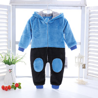 Autumn Infant Baby Boy Girl Rompers Warm Flannel 0-6M Baby Clothing Bear Hood Overalls Baby Onesie Long Sleeve Jumpsuit for Baby