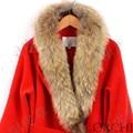 Настоящее меховым воротником 100% подлинные мех енота шарф Несколько размеров зима для женщин горячий продавать L #27