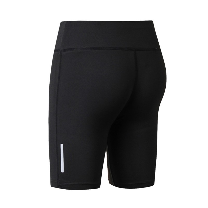 Women's Compression Fit Tight Night Reflective High Waist  Elastic Women Tight Bottom Slim Shorts