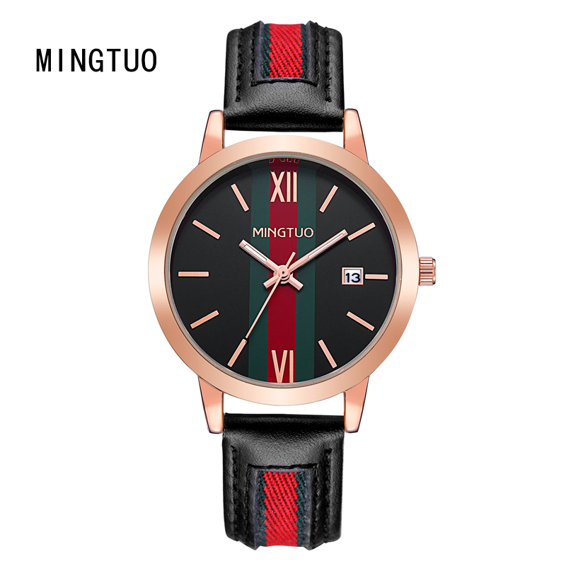 mingtuo new fashion dress watch green and red color leather bracelet women watch round minimalist ladies quartzwatch 30 Mingtuo New Fashion Dress Watch Green and Red Color Leather Bracelet Women Watch Round Minimalist Ladies Quartzwatch 30