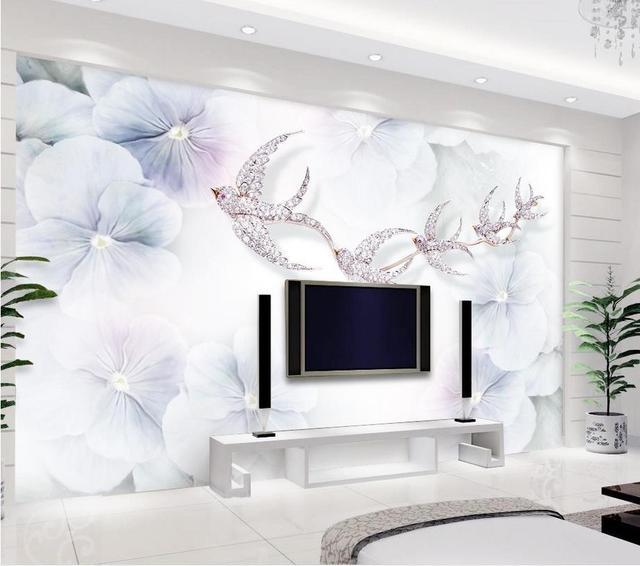 Dcoration De La Maison Classique Peinture Papier Peint D Fleurs