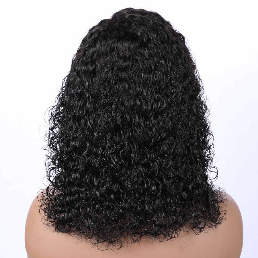 Эва волос бесклеевая 360 кружевных фронтальных париков предварительно выщипанные волосы с волосами младенца бразильские волосы Remy кудрявые волосы фронта шнурка человеческих волос парики