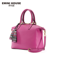 EMINI HOUSE Genuine Leather Shoulder Bag Vintage Tassel Hobos Bag Women Messenger Bags Luxury Handbags Women